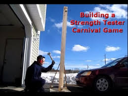 Wooden Carnival Games How to Build a Strength Tester Carnival Game YouTube 74