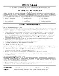 Customer Service Supervisor Resume 4 Customer Service Representative Cover  Letter Sample