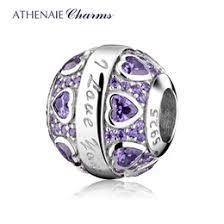 925 i love jewelry athenaie 925 sterling silver purple cz i love you hearts