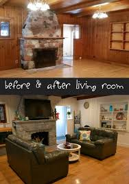 painting ideas for rooms with wood paneling. before and after living room remodel. coastal painted wood paneling, painting ideas for rooms with paneling p