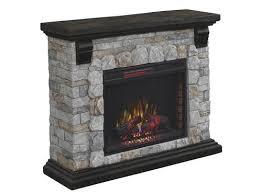 chimneyfree 50 denali electric fireplace entertainment center in castle rock flagstone at menards