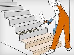 Hier finden sie beratung bei restaurierungen von fassaden, böden und treppen aus sandsteinen, kalksteinen, kunststeinen und beton. Betontreppe Verkleiden Anleitung In 4 Schritten Obi