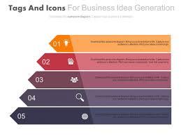 Five Progressive Arrows Infographic Chart Powerpoint Template