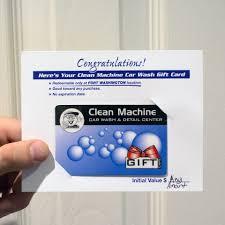 clean machine car wash gift prepaid cards