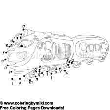Alphabet Dot To Dot Game Train Coloring Page 1221 Coloring By Miki
