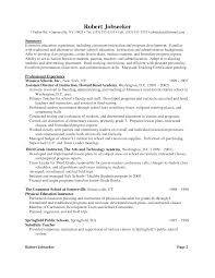 resume example for teachers  seangarrette coresume