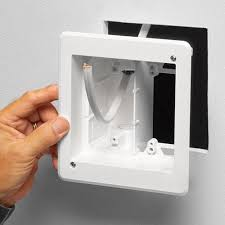 recessed multiple gang tv box for power and low voltage arlington industries retrofit 2 gang tv box installation icon