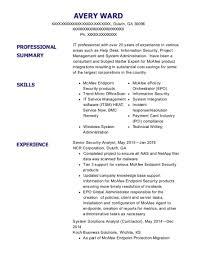 Best Mcafee Sme Consultant Resumes Resumehelp