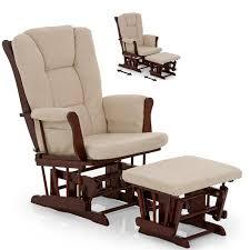 reclining glider chair lovely hauck glider rocking nursing chair stool walnut beige