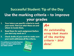 stella cottrell on successfulstudent use marking successfulstudent use marking criteria well to boost your grades students student class essay grades bcu asu university uni acupic com