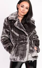 rayana oversized faux fur jacket thumbnail