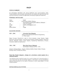 Sample Resume Graduate School Psychology How To Write Cv Document