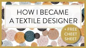How To Be A Freelance Textile Designer Textile Designer P How I Became A Textile Designer