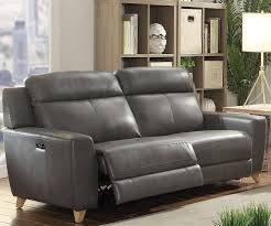 grey faux leather power motion sofa loveseat modern acme furniture 54200 cayden order