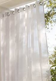 Sheer curtains provide privacy and allow you protection from the sun  without blocking the view.