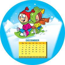 december 2014 background. Interesting December Calendar Grid On December 2014 Against The Background Of A Funny Drawing  Children In Intended Background H