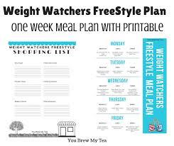 weight watchers freestyle plan one week