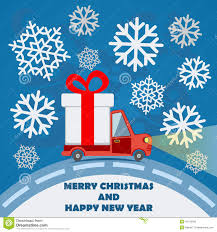 Royalty-Free Vector. Download Gift Delivery Van In Christmas ...