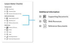 Subject Matter Expert Free Resource Checklist