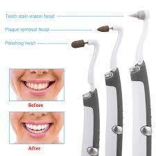 dental tooth stain eraser teeth polisher whitener stain plaque remover led