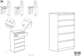 Ikea Instruction Manuals Ikea Storage Furniture Kullen Chest W 5drawers 28x44 Pdf Assembly