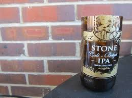 homemade drinking glass from beer bottle stone ipa