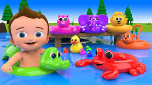 Children Education Cartoons Learn Colors For Children With Baby Fun Play Cartoon Animals Water