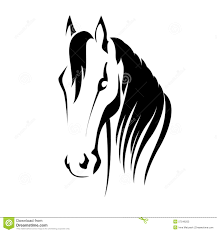 tribal horse head silhouette.  Silhouette Download Vector Silhouette Of A Horse Head Stock  Illustration Of  Sign Sketch Intended Tribal D