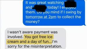 Mother Refuses To Pay Babysitter Offers Ice Cream And Fun