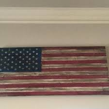 best rustic flag wood distressed reclaimed art for inside prepare wooden american decor prepar