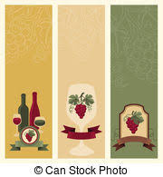 Wine Border Template Side Vertical Border With Wine Icons Template For Packaging Cards