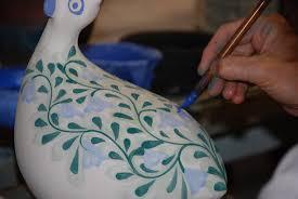 pottery algarve painting bird jpg