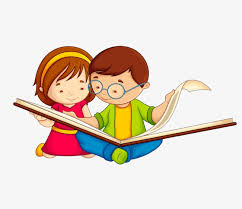 cartoon reading a small partner cartoon clipart reading clipart open book png image