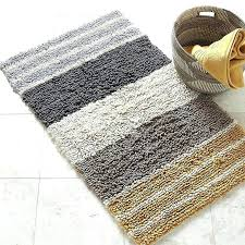 striped bath rugs winsome bathroom rug chunky loop stripe the variegated stripes on this plush blue striped bath rugs