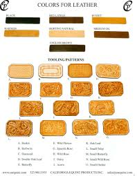 leather color chart and tooling patterns