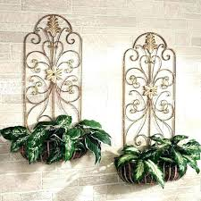wrought iron wall planter wrought iron wall planters arched iron wall decor indoor outdoor metal wall wrought iron wall planter
