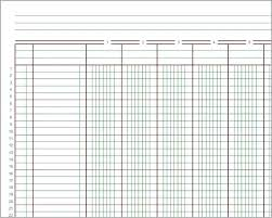 Free Business Ledger Template Printable Blank General