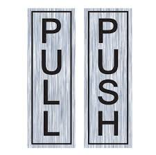 pull push door stickers window salon bar cafe restaurant office