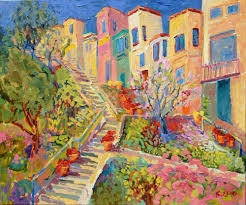 kathleen elsey plein air painting steps of telegraph hill