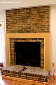 fireplace before and after diy projects build fireplace mantel shelf