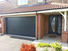 anthracite grey sectional garage door