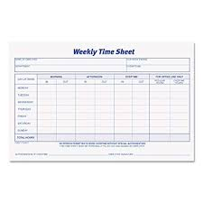Time Sheets Amazon Com Tops Weekly Employee Time Sheet 8 5 X 5 5 Inches 100