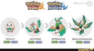 Rowlet Pokemon Evolution Chart Bedowntowndaytona Com