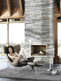 modern stone fireplace gray area rug style interior design living room decor ideas grey pictures