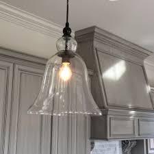 clear glass pendant lighting. Clear Glass Pendant Lights For Kitchen Lovely Extra Bell Light Inspiration Estess New Lighting