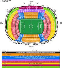 Camp Nou Stadium Seating Chart Tickets Barcelona Com Vip Tickets