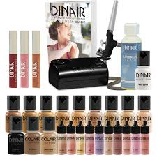 details about airbrush makeup starter kit fair to um foundation double value dinair pro