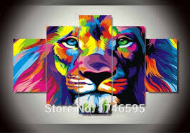 big size abstract living room wall decor colorful wall art picture decor printed lion king painting on colorful wall art canvas with big size abstract living room wall decor colorful wall art picture