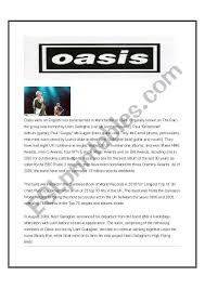 Oasis Esl Worksheet By Gazj60