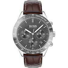 hugo boss men 039 s talent leather strap watch 1513598